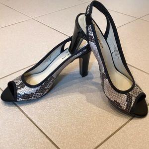 Ann Klein iflex Peep Toe Sling Back Heels Sz.8